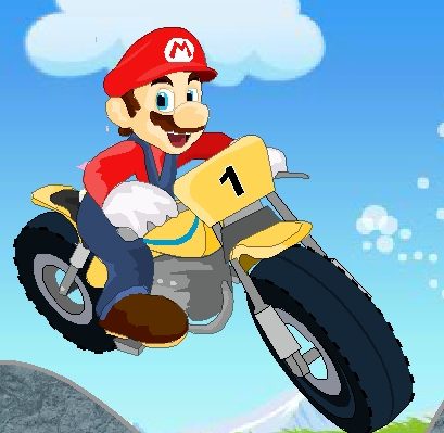 Super Mario : Hard Bike